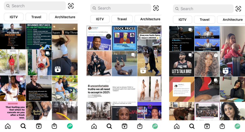 how do you find someone's instagram account. how does the instagram search feed work?